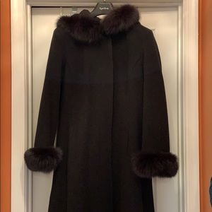 Stunning Fox and Lambs Wool coat Marvin Richards